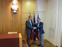 Die Bürgermeister von Fürstenfeldbruck und Livry-Gargan