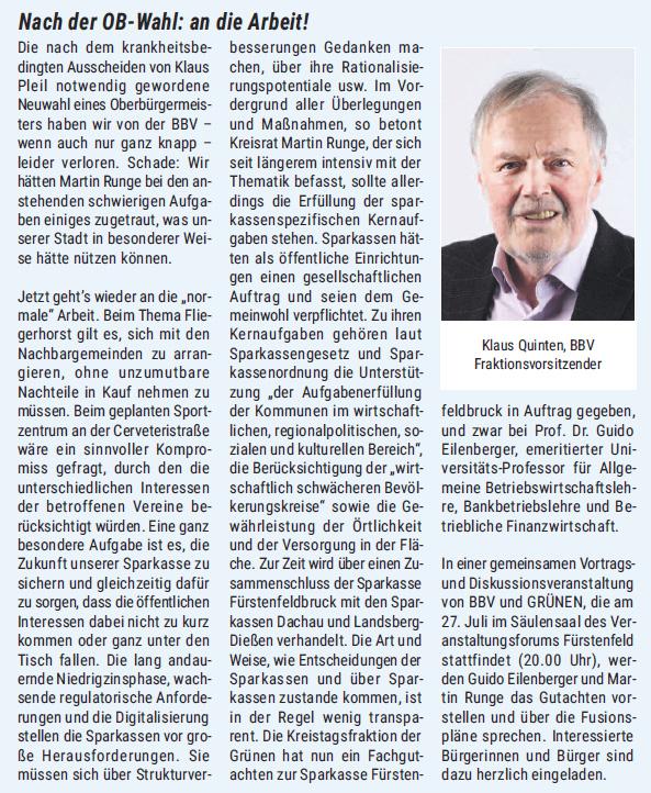 Brucker RathausReport Juli 2017 Beitrag von Klaus Quinten