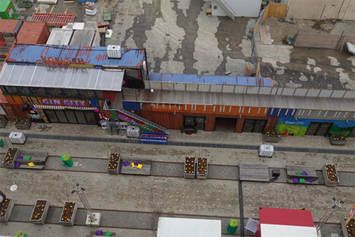 Werksviertelbesichtigung Container für Zwischennutzung